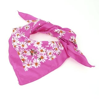 "Unique Bargains Ladies Gift Floral Pattern Square Kerchief Fuchsia 20""x20"""
