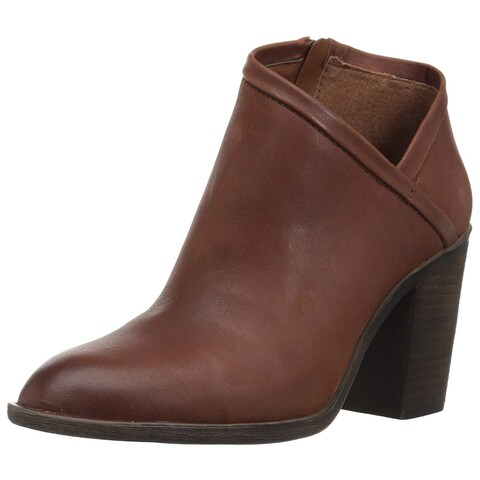 Lucky Brand Womens Salza Suede Almond Toe Ankle Fashion Boots