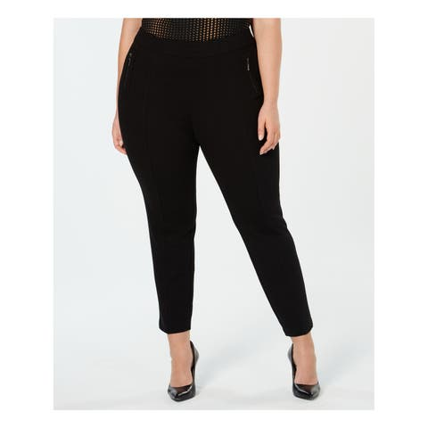 ANNE KLEIN Womens Black Zip Pockets Pull On Skinny Pants Plus Size: 0X
