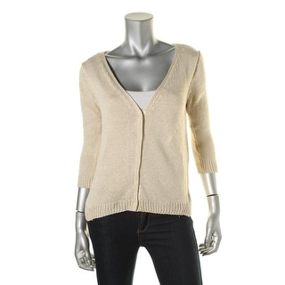 Zara Knit Womens Knit Ribbed Trim Cardigan Sweater - M