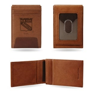 4 Brown NHL New York Rangers Front Pocket Wallet N A