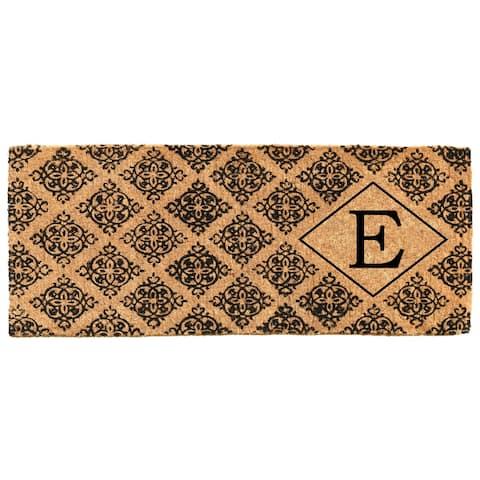 """Regency Monogram Doormat 18"""" x 46"""" x 1.5"""" (Letter E) - 18 x 46 in"""