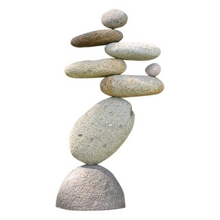 Eight-Stone Balancing Cairn - Indoor/Outdoor Garden Decoration - 13 in.