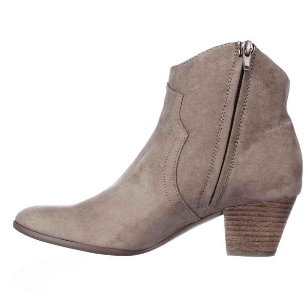 Carlos by Carlos Santana Womens HARPER Fabric Almond Toe Ankle Fashion Boots