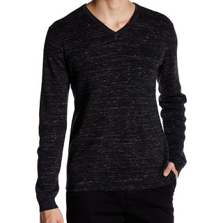 Calvin Klein NEW Black Mens Size Medium M V-Neck Full Needle Sweater