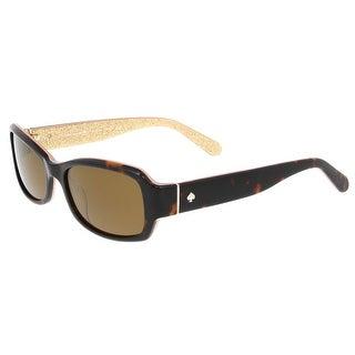 Kate Spade - Adley/P/S 1J5P  Havana Glitter Rectangle Sunglasses - havana glitter