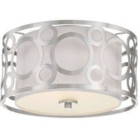 "Nuvo Lighting 60/5942 Filigree 2 Light 14-5/8"" Wide Flush Mount Drum Ceiling Fixture"