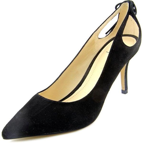 Marc Fisher Teagin Women Pointed Toe Suede Black Heels