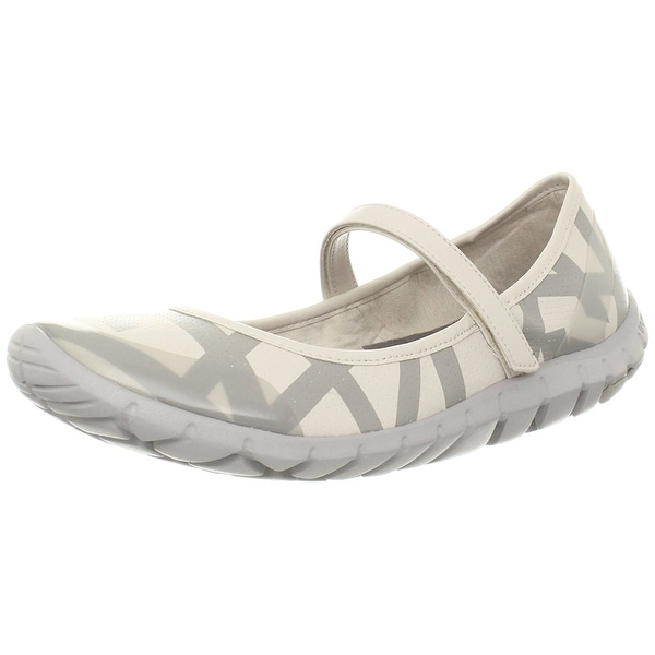 Rockport NEW White Ivory Womens Shoes Size 8.5M Striped Mary Jane