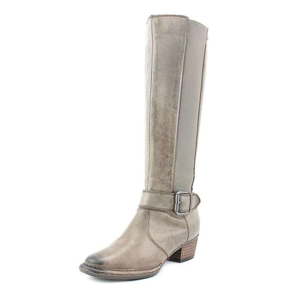 Giani Bernini Womens ALLCOTT Leather Almond Toe Knee High Cowboy Boots