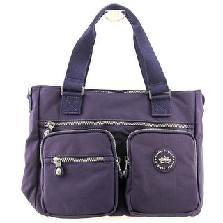 Crest Design Lee Women Nylon Blue Shoulder Bag