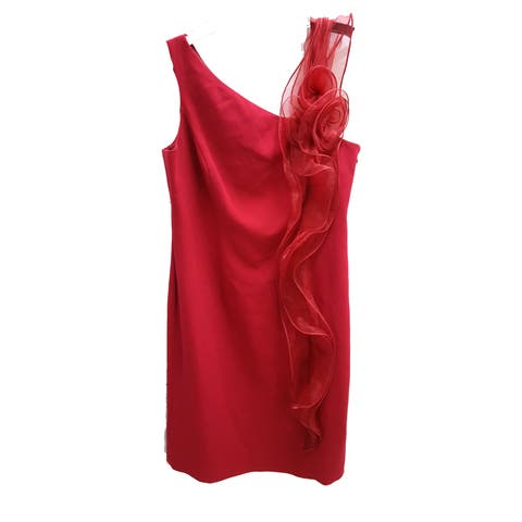 Calvin Klein Jon Teri Dress, Red, 10