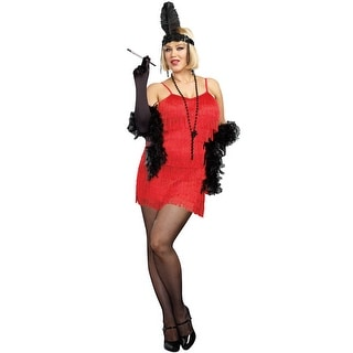 Dreamgirl Flapper Plus Size Costume (Red) - Red