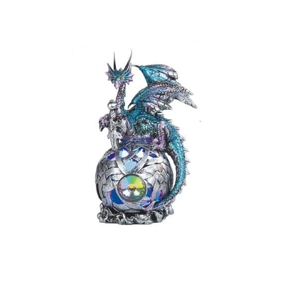 Q Max 6 H Blue And Purple Dragon Globe With Led Globe Statue Fantasy Night Light Decoration Figurine On Sale Overstock 32409257