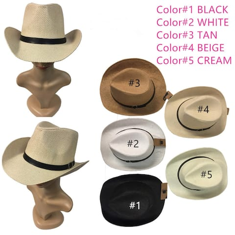 Women And Men Cowboy Hat Straw