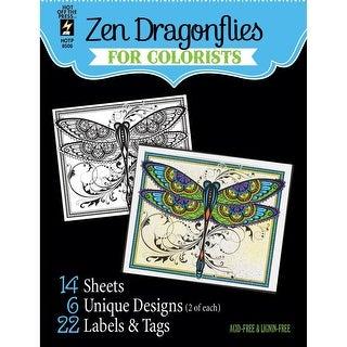 "Hot Off The Press Coloring Book 5""X6""-Zen Dragonflies"