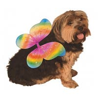 Fairy Wings Dog Costume - Rainbow - Small/Medium