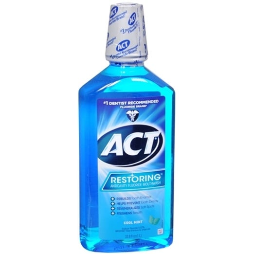 ACT Restoring Anticavity Mouthwash Cool Splash Mint 33.80 oz