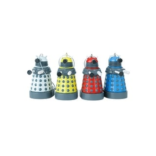 Doctor Who Colored Dalek Ornament Set