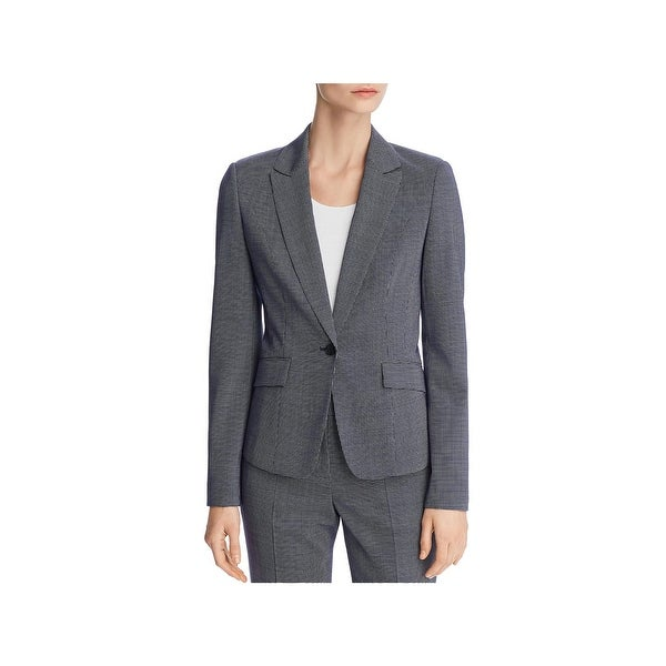 be7d301d2a Shop BOSS Hugo Boss Womens Janore One-Button Blazer Wool Houndstooth - 14 - Free  Shipping Today - Overstock - 27899811