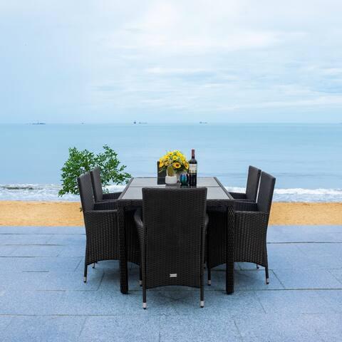 SAFAVIEH Outdoor Jolin 7-Piece Wicker Dining Set
