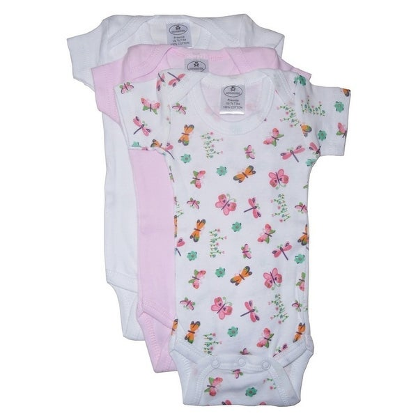 Bambini Baby Girls Multi Color Printed Variety 3-Pack Bodysuits