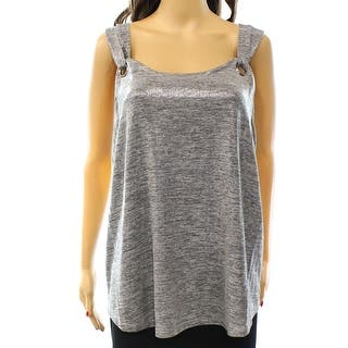 INC NEW Silver Women's Size XS Shimmer Grommet Double-Strap Tank Blouse|https://ak1.ostkcdn.com/images/products/is/images/direct/d5ebcba0f480323aa992d82d4b1c194dcc018102/INC-NEW-Silver-Women%27s-Size-XS-Shimmer-Grommet-Double-Strap-Tank-Blouse.jpg?impolicy=medium