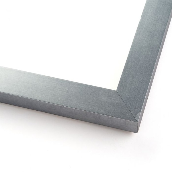 10x55 Silver Stainless Steel Wood Picture Frame - With Acrylic Front and Foam Board Backing