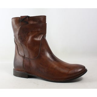 Frye Womens Paige Short Riding Brown Ankle Boots Size 6.5