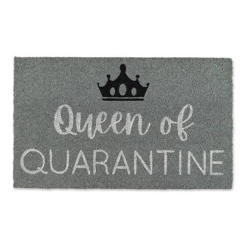 """30"""" Vibrant Unique """"Queen of Quarantine"""" Rectangular Doormat"""