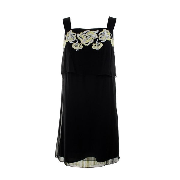 Shop French Connection Womens Party Dress Embroidered Fringe - Free ... 203d4346bcb7