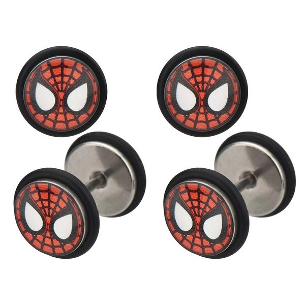 Marvel Comics Spider-Man 316L Surgical Steel Faux Plugs 18g