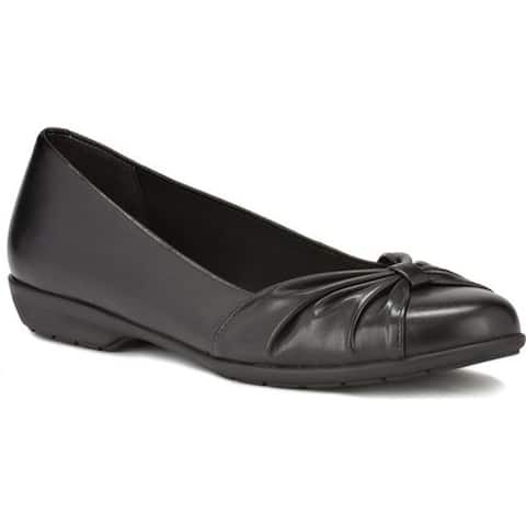Walking Cradles Women's Fall Ballet Flat Black Leather