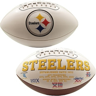 """Pittsburgh Steelers Embroidered Logo """"Signature Series"""" Football"""