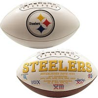 "Pittsburgh Steelers Embroidered Logo ""Signature Series"" Football"