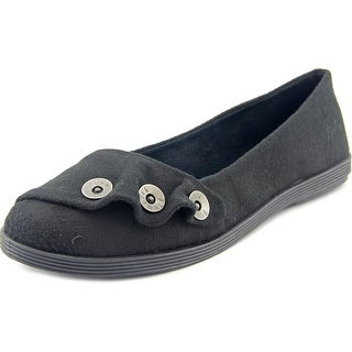 Blowfish Garamel Women Round Toe Canvas Black Flats