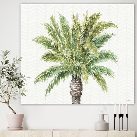 Porch & Den Mixed Botanical Greens palms IV' Farmhouse Canvas Art - Green