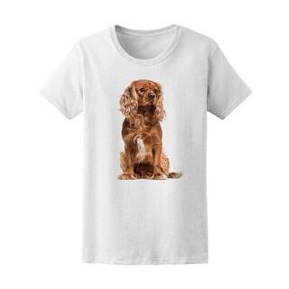 Brown Cavalier Spaniel Dog Tee Women's -Image by Shutterstock