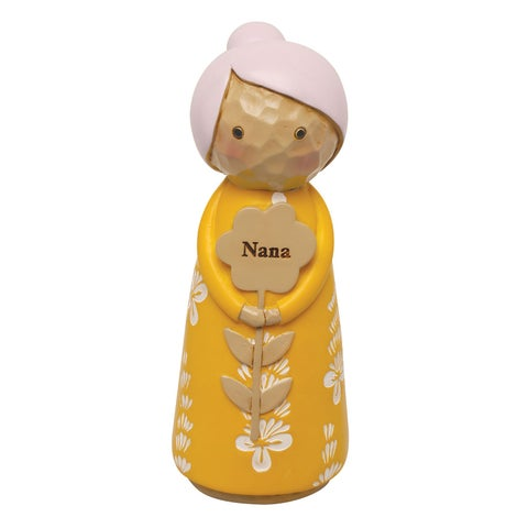"Japanese Kokeshi Dolls - Nana - 4.5"" High - 4 in."