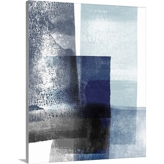 """Blue Abstract IV"" Canvas Wall Art"
