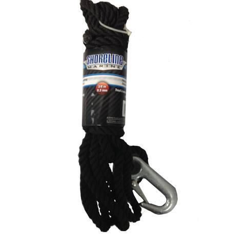 Shoreline marine sl76660 winch rope pp/polyester w/hook