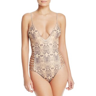 Sofia by Vix Womens Snake Print Cut-Out One-Piece Swimsuit