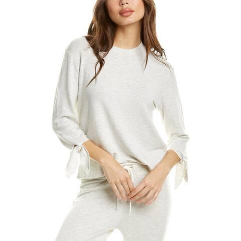 Monrow Tie-Sleeve Sweatshirt