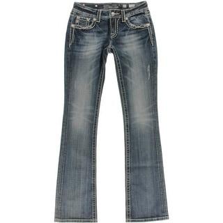 Miss Me Womens Denim Embellished Boot Cut Jeans - 27