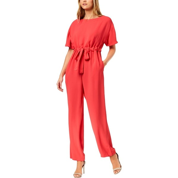 ebd0649295a Shop French Connection Womens Jumpsuit Viscose Tie-Waist - 4 - Free ...