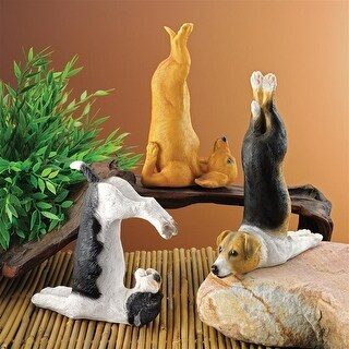 Design Toscano The Zen of Canine Yoga Dog Statues: Set of Three