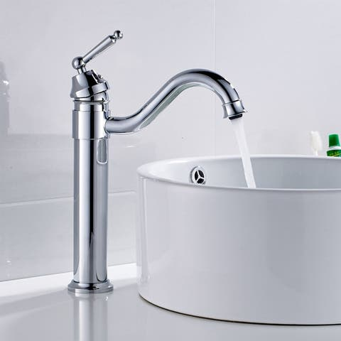 Bathroom Sink Faucets One Hole Single Handle Swivel Spout Faucet