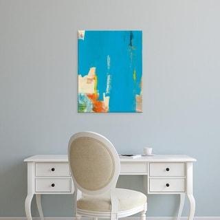 Easy Art Prints Jan Weiss's 'Aqua Tide' Premium Canvas Art