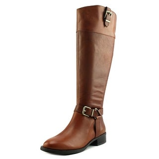 INC International Concepts Fedee Wide Calf Women Leather Tan Knee High Boot