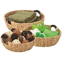 Honey-Can-Do International  3 Piece Basket Round Natural - Case of 6